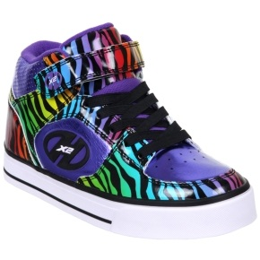 Heelys X2 Cruz - Purple/Rainbow/Zebra