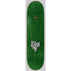 Deathwish Nightmare In Emerald Skateboard Deck - Ellington 8.25