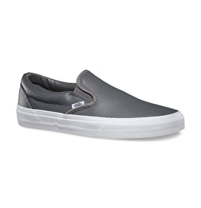Vans Classic Slip-On Shoes - (Perf Leather) Smoked Pearl