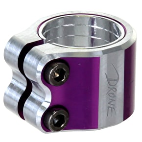 Drone Contrast Double Collar Clamp - Purple