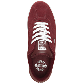 Etnies The Scam Skate Shoes - Burgundy/White