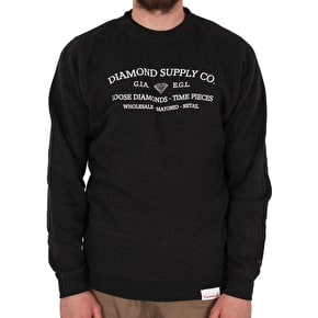 Diamond Time Piece Crewneck - Charcoal Heather