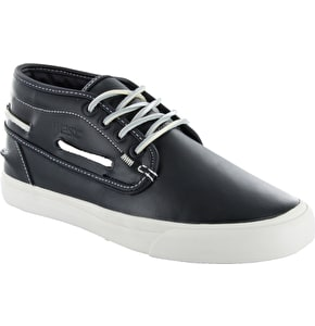 WeSC Lifestyle Ahab Shoes - Blue Iris Leather