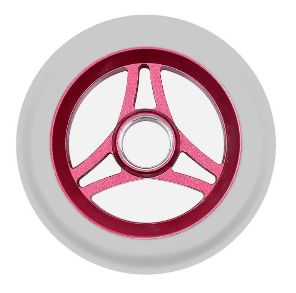 Image of Aztek Trilogy 110mm Scooter Wheels - Red/White