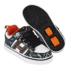 Heelys X2 Bolt Plus Light Up - Black/White/Orange/Cyan
