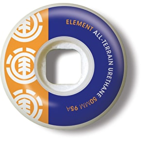 Element Skateboard Wheels - Section Orange/Blue 50mm 95A (Pack of 4)