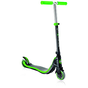 Globber Flow 125 Complete Scooter - Black/Neon Green