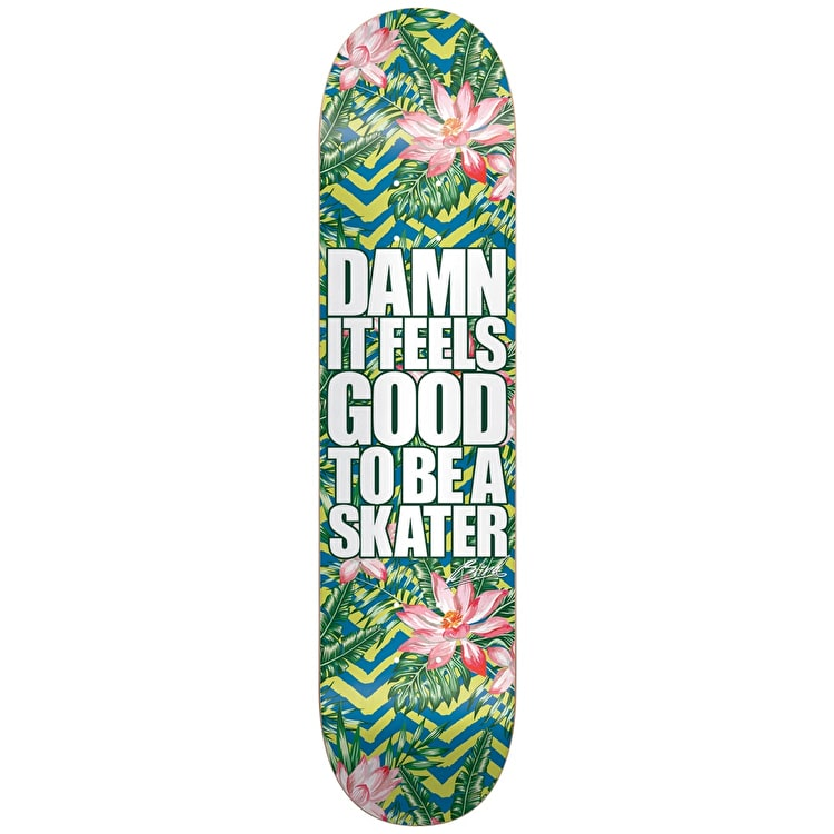 Blind Damn Plantlife V2 Skateboard Deck - Green/Blue 8""