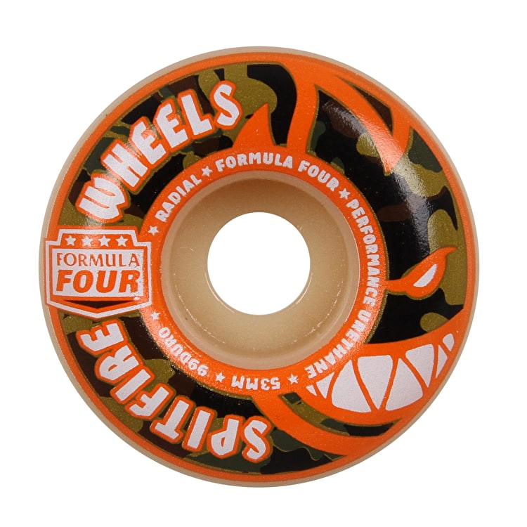 Spitfire Formula Four Covert Radial 99D Skateboard Wheels - Natural 53mm