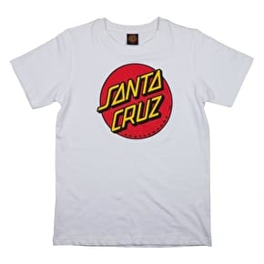 Santa Cruz Classic Dot Kids T-Shirt - White
