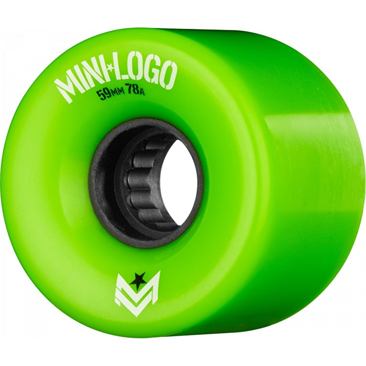 Mini Logo A-Cut A.W.O.L. 78a Skateboard Wheels - Green 59mm (Pack of 4)