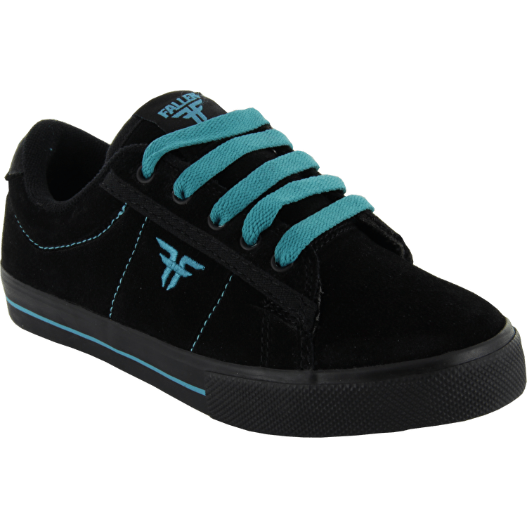 Fallen Kids Bomber Skate Shoes - Black/Cyan
