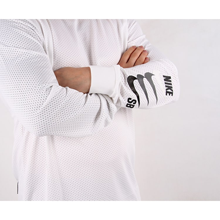 Nike SB Dry Long Sleeve T shirt - White/Anthracite