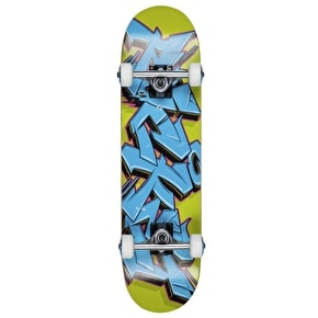 Rocket Mini Skateboard - Graffiti Series Blue/Green 7.5