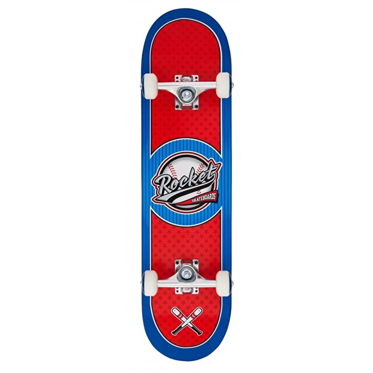 Rocket Logo Series All Star Complete Skateboard - Red/Blue 7.75""