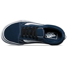 Vans Old Skool Kids Skate Shoes - (Suede) Dress Blues/Black