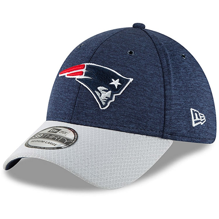 New Era New England Patriots NFL 39THIRTY Cap - Navy Grey  934c6c00b1a