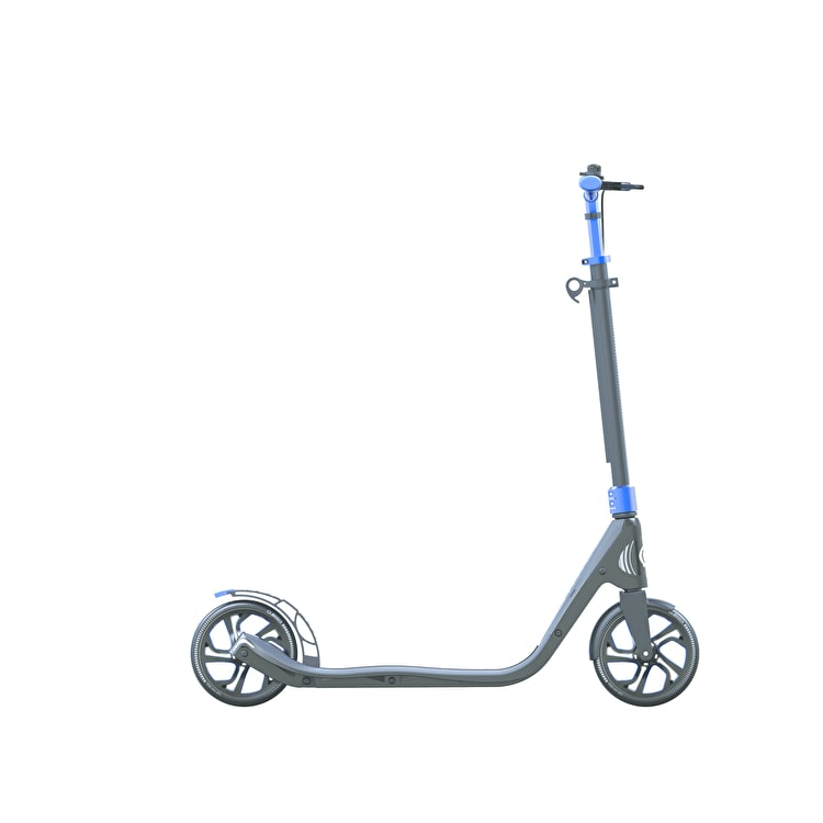 Globber One NL 205 Deluxe Complete Commuter Scooter - Titanium/Cobalt Blue