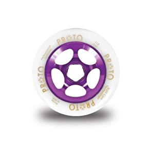 PROTO 110mm Gripper Wheel - White on Purple