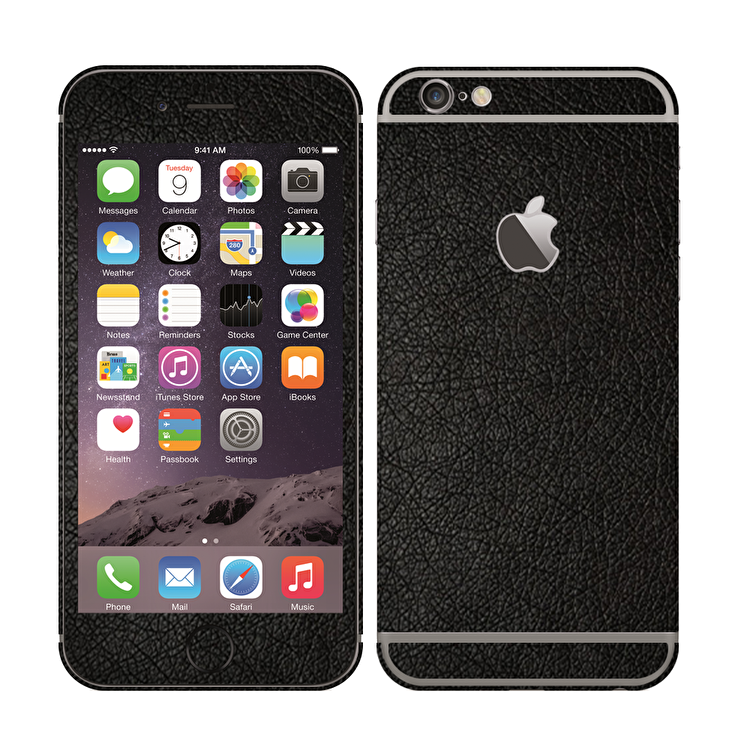 UKarbon iPhone 6/6s Wrap - Black Leather