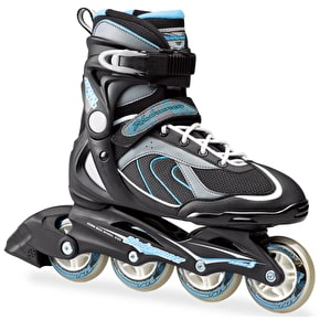 Bladerunner Womens Inline Skates - 2016 Pro 80 Black/Light Blue