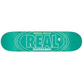 Real Renewal Oval PP Skateboard Deck - Green 8.25
