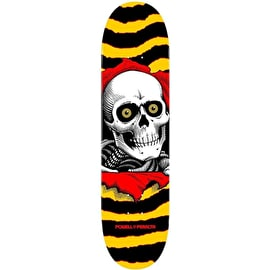 Powell Peralta One Off Ripper Skateboard Deck - Yellow/Red 7.0