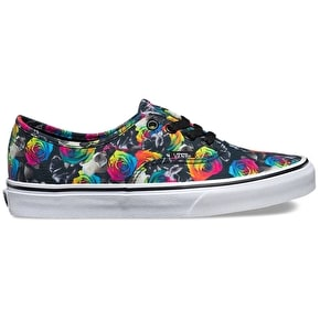 Vans Authentic Womens Shoes - (Rainbow Floral) Black/True White
