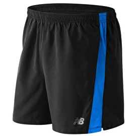 New Balance Accelerate 5 Inch Shorts - Black/Electric Blue