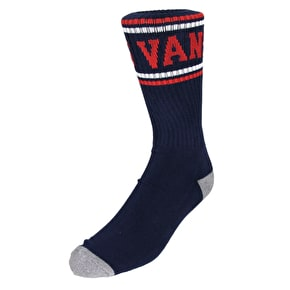 Vans Classic Stripe Crew Socks - Dress Blues/Chilli Pepper