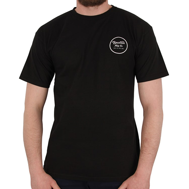 Brixton Wheeler II Short Sleeve Standard T shirt - Black