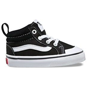 Vans Racer Mid Toddler Shoes - (Canvas) Black/True White