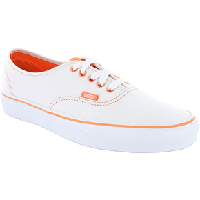 Vans Authentic Shoes - (Clear Eyelets) True White/Canteloupe