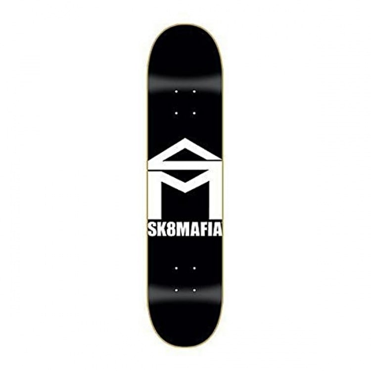 SK8 Mafia Skateboard Deck - House Logo Black