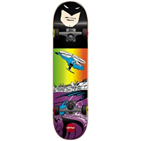 Almost Batman Flight Youth Complete Skateboard - Purple/Black 7.25