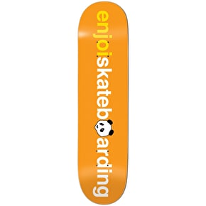Enjoi Skateboard Deck - No Brainer V2 Orange 8.25