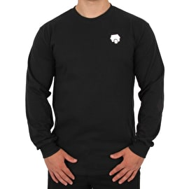 SkateHut Scooter Ride Long Sleeve T Shirt - Black