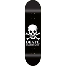 Death OG Skull Skateboard Deck - Black 7.75