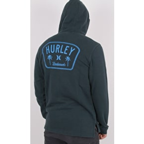 Hurley Beach Club Destroy 17TH ST Zip Hoodie - Armory Navy
