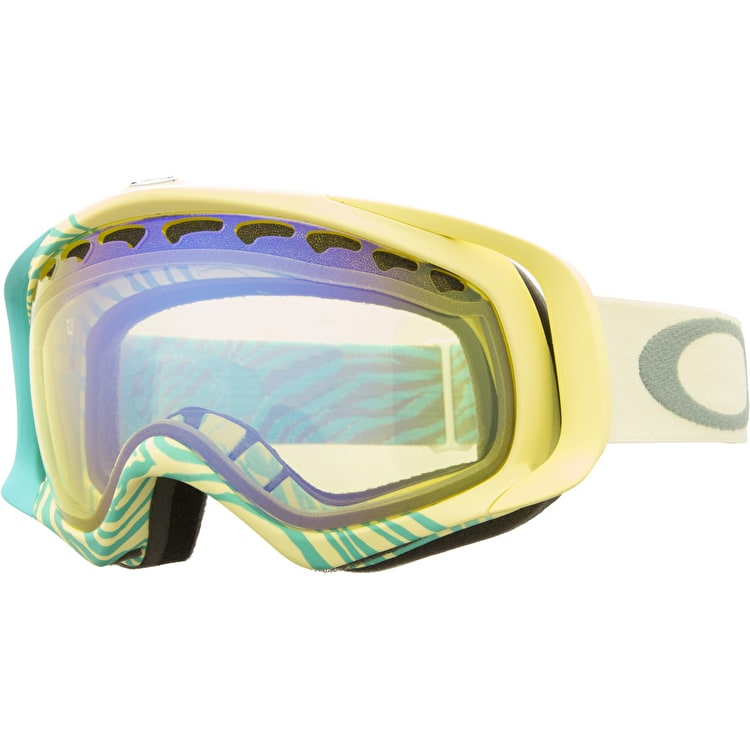 Oakley Crowbar Animalistic Snow Goggles - Turquoise/Hi Intensity Yellow