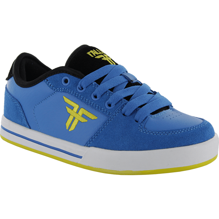 Fallen Patriot II Kids Skate Shoes - Sky Blue/Fluro Yellow