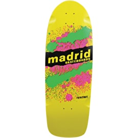 Madrid Explosion Skateboard Deck Yellow - 9.5