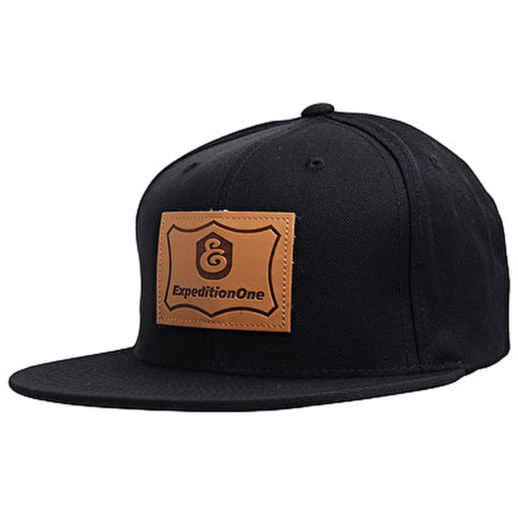 Expedition One Patch Snapback Cap - Black