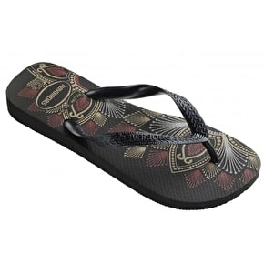 Havaianas Spring Womens Flip Flops - Black/Dark Grey