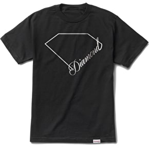 Diamond Linear Script T-Shirt - Black