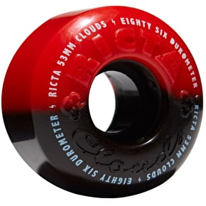Ricta Cloud Duotones 86a Skateboard Wheels - Black/Red 53mm
