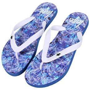 Hype Flip Flops- Blue Palm