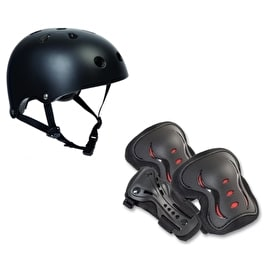 SFR Essentials Helmet & Pad Set Bundle - Black