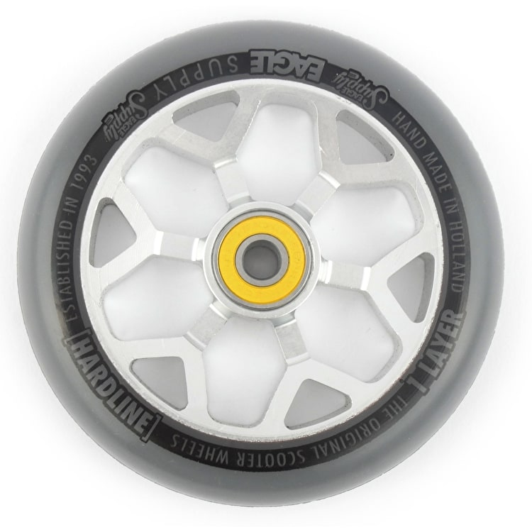 Eagle 110mm Hardline 1-Layer 6M Sewercaps Scooter Wheel - Grey/Silver
