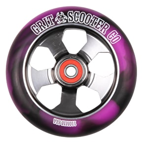 Grit Alloy Core 110mm Scooter Wheel - Black/Purple/Titanium